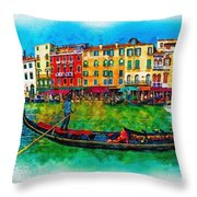The Mystique Of Italy Throw Pillow