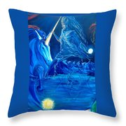 The Naeyad With Cyro And Starchild Throw Pillow