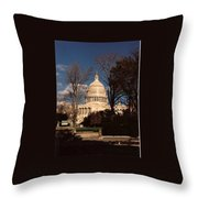 The Nation's Capitol Throw Pillow