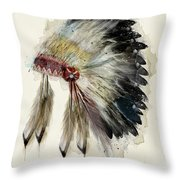 The Native Headdress Throw Pillow