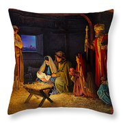The Nativity Throw Pillow by Greg Olsen