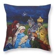 The Nativity Throw Pillow by Reina Resto