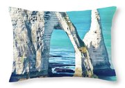 The Needle Of Etretat Throw Pillow