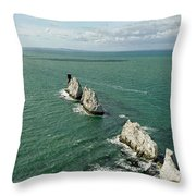 The Needles - Isle Of Wight Throw Pillow