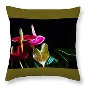 The Neon Garden Throw Pillow