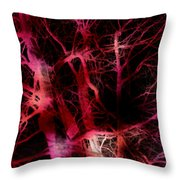 The Neural Network Of Trees Throw Pillow