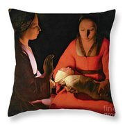 The New Born Child Throw Pillow