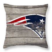 The New England Patriots 3c Throw Pillow