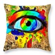 The New Eye Of Horus Throw Pillow