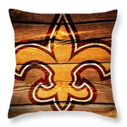 The New Orleans Saints 3b Throw Pillow