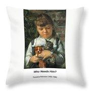 The New Pet Throw Pillow