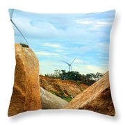 The New Windy Shorelines Throw Pillow