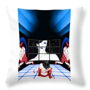 The New Year's Dream - Self Portrait Throw Pillow