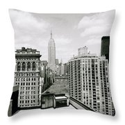 The New York Skyline Throw Pillow