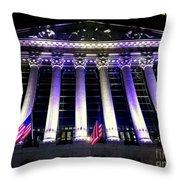 The New York Stock Exchange Throw Pillow