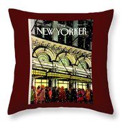 The New Yorker Cover - January 18th, 1988 Throw Pillow