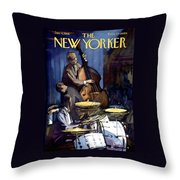 The New Yorker Cover - January 4th, 1958 Throw Pillow