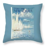 New Yorker Cover - June 13th, 1959 Throw Pillow