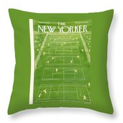 The New Yorker Cover - June 25th, 1960 Throw Pillow