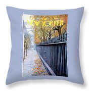 Autumn In New York Throw Pillow