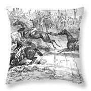 The Newport Pagnel Steeple Chase Throw Pillow