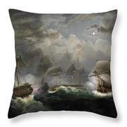 The Night Action Throw Pillow