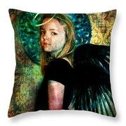 The Night Angel Throw Pillow