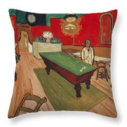 The Night Cafe In Arles Throw Pillow