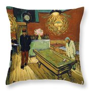 The Night Cafe Throw Pillow