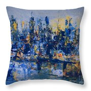 The Night City Throw Pillow