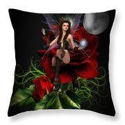 The Night Fairy 2 Throw Pillow