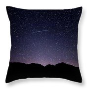 The Night Landscape View And The Stars At Tuttle Creek, Lone Pin Throw Pillow