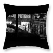 The Night Side Of Town - New York Throw Pillow