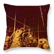 The Nightmare Carousel 12 Throw Pillow