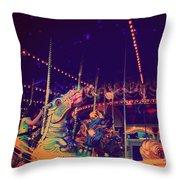 The Nightmare Carousel 22 Throw Pillow