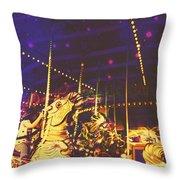 The Nightmare Carousel 7 Throw Pillow