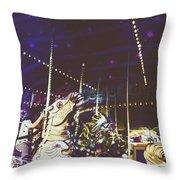 The Nightmare Carousel 8 Throw Pillow