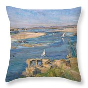 The Nile Near Aswan Throw Pillow