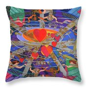The Nine Lives Of The Heart Throw Pillow