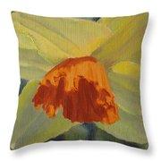 The Nodding Daffodil Throw Pillow