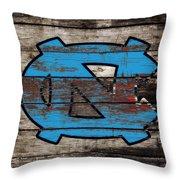 The North Carolina Tarheels 3e Throw Pillow