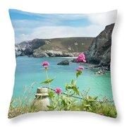 The North Cornwall Coast Throw Pillow