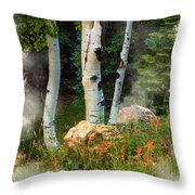 The North Rim Forest Throw Pillow
