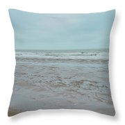 The North Sea Landscape Throw Pillow