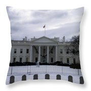 The North View Of The White House Throw Pillow