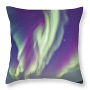 The Northern Lights In Churchill Throw Pillow