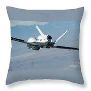 The Northrop Grumman-built Triton Unmanned Aircraft System Throw Pillow