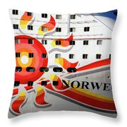 The Norwegian Sun Bow Throw Pillow by Susanne Van Hulst