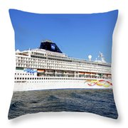 The Norwegian Sun Is Leaving Throw Pillow by Susanne Van Hulst