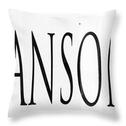 The Note Throw Pillow